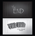 end credits vector image vector image