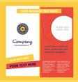 eye ball company brochure template busienss vector image vector image