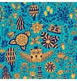 forest design floral seamless pattern vector image vector image