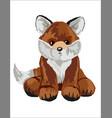 fox stuffed toy vector image vector image