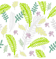 freehand floral pattern vector image vector image