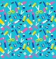 fun school seamless pattern children supplies vector image