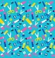 fun school seamless pattern children supplies vector image vector image