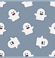 funny ghost seamless pattern vector image vector image