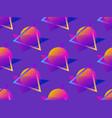futuristic seamless pattern gradient sun retro vector image vector image