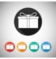 Gift box flat icons vector image vector image