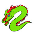 green chinese dragon icon cartoon vector image vector image