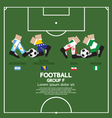Group F 2014 Football Tournament vector image vector image