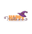 happy halloween greeting or invitation with hand vector image vector image