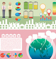 Infographic with people and graphs vector image