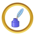 Ink with pen icon vector image vector image