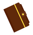 leather notebook icon flat style vector image vector image