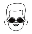 little kid avatar profile picture black and white vector image vector image