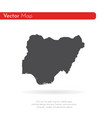 map nigeria isolated black vector image