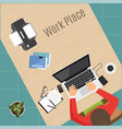 modern workplace vector image vector image