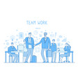 outsourcing team concept creative business vector image vector image