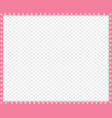 pink and white border made of animal paws vector image