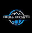 real estate logo designs business for build vector image