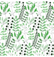 Seamless background with hand-drawn herbs of vector image vector image