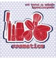 set of cosmetics sticker vector image