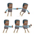 set of teacher character in different poses vector image vector image