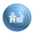 small village house icon simple style vector image vector image