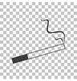 Smoke icon great for any use Dark gray icon on vector image vector image