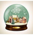 snow covered little town vector image