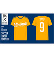 soccer jersey football kit minimal style vector image vector image