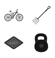 sports fitness and other web icon in black style vector image vector image