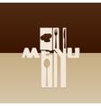 Stencil restaurant menu vector image