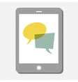 tablet chat vector image vector image