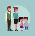 teacher with kids vector image