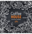 template coffee shop page vector image