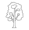 Tree icon outline style vector image vector image