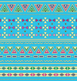 Tribal ethinc ztec seamless pattern on blue vector image vector image
