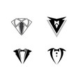 tuxedo logo template icon vector image vector image