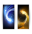 two banners with comet vector image vector image