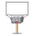 up board character of metallic meat tenderizer vector image vector image