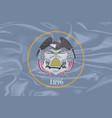 utah state silk flag vector image vector image