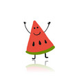 watermelon cute character for your design vector image vector image