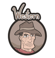 Western frame emblem vector image