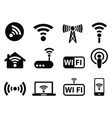 wifi icons set vector image