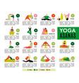 yoga flat infographics vector image vector image