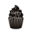 chocolate cupcake happy happy birthday design vector image