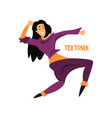 girl dancing tektonik dance on vector image