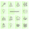 14 anniversary icons vector image vector image