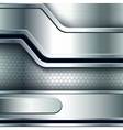 Abstract background metallic silver banners vector image vector image