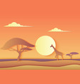 african trendy paper cuted landscape with a vector image
