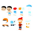 baby clothes and accesories pack vector image